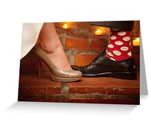 socks and shoes Greeting Card