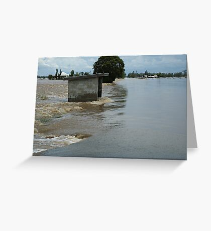 Richmond River Floods between Casino and Lismore Greeting Card