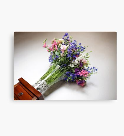 Wedding Flower Bouquet Canvas Print