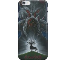 Mononoke hime poster#3 San, Moro and her wolves iPhone Case/Skin