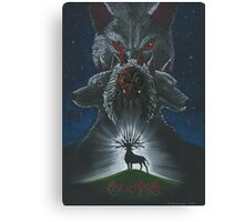 Mononoke hime poster#3 San, Moro and her wolves Canvas Print