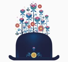 Creative hat with blue flowers Kids Clothes