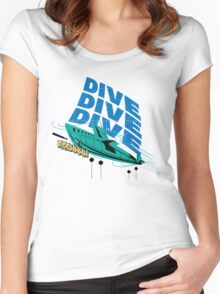 Dive! Dive! Dive! Women's Fitted Scoop T-Shirt