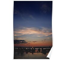 Harbor Sunset Poster