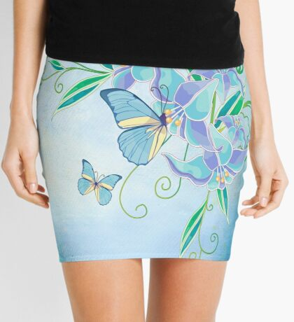 Blue Butterfly! SALE! Mini Skirt