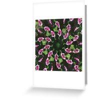 Rosas Moradas 2 Kaleidoscope 5 Greeting Card
