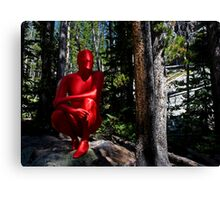 Red Forest Zentai Canvas Print