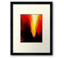 red heat ... pressure over load Framed Print