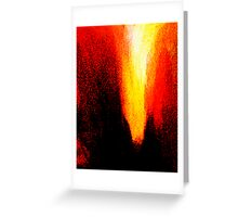 red heat ... pressure over load Greeting Card