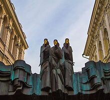 Lithuania. Vilnius. National Drama Theater. Sculptures. by vadim19