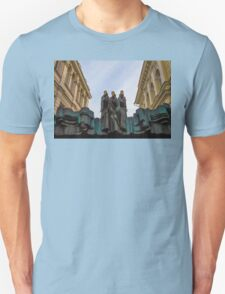 Lithuania. Vilnius. National Drama Theater. Sculptures. T-Shirt