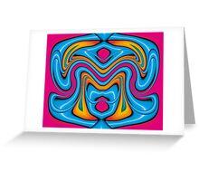 Blue Yoga Greeting Card