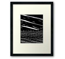 Screen Tear Framed Print