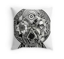 Circles of the lady Throw Pillow