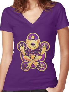 Abra Women's Fitted V-Neck T-Shirt