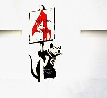 Banksy - Protester 4  by areyarey