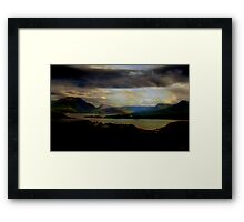 Third Movement: The glen 1755. Theme for Alexion. Framed Print