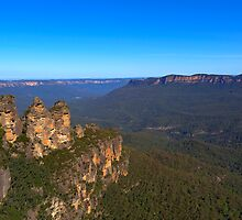 Three Sisters at Echo Point by Gino Iori