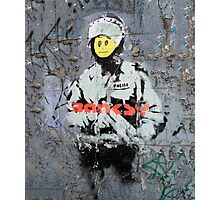 Banksy Smile Cop  Photographic Print