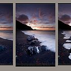 Cape Palliser Dawn Blush Triptych by Ken Wright