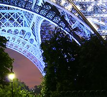 Eiffel Tower at Night, Paris by Huw Lambert