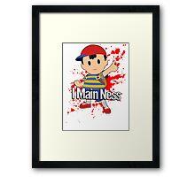 I Main Ness - Super Smash Bros. Framed Print