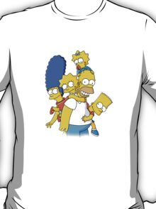happy simpson family T-Shirt