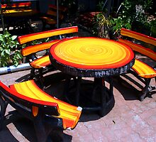 Tables and  Chairs, Chiang Mai, Thailand by JonathaninBali