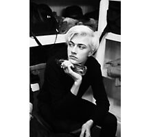 grey Lucky Blue Smith  Photographic Print