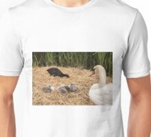 Swan and Cygnets Unisex T-Shirt