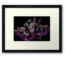 pokemon mega dark rayquaze dragon anime shirt Framed Print