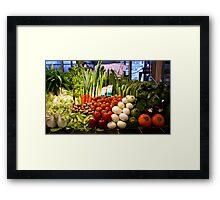 Vegetables, Chiang Mai, Thailand Framed Print