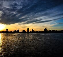 Boston Sunset - Charles River by IsaPagani