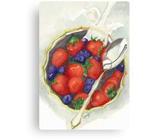 Berries and Cream Canvas Print