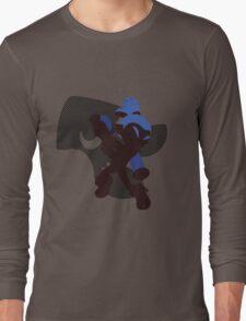 Dark Blue Male Inkling - Sunset Shores Long Sleeve T-Shirt