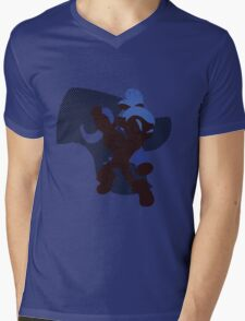 Dark Blue Male Inkling - Sunset Shores Mens V-Neck T-Shirt