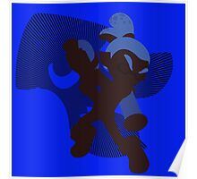 Dark Blue Male Inkling - Sunset Shores Poster