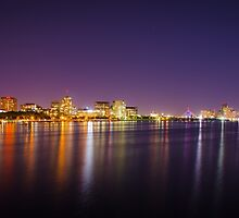 Boston Skyline at Night by IsaPagani