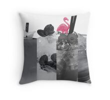grayscale cocktails Throw Pillow