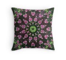 Rosas Moradas 2 Kaleidoscope 8 Throw Pillow