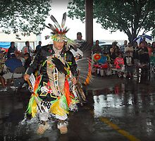 Dance Contestant (Pow Wow Series) by Dyle Warren