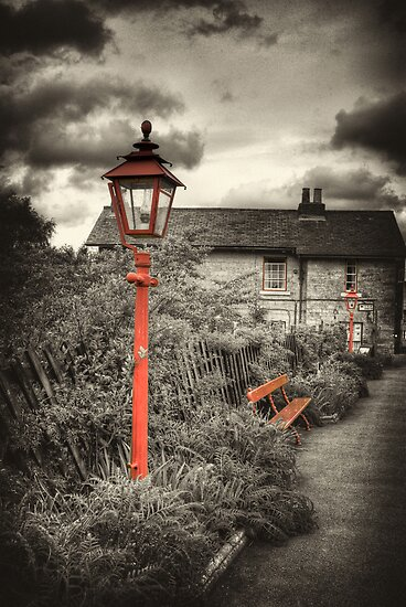 By the Gas Light - Levisham Station by Trevor Kersley