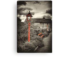 By the Gas Light - Levisham Station Canvas Print