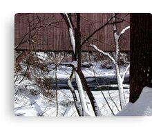 Jericho Covered Bridge Snow Scene Canvas Print