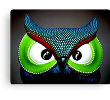 An Owl Bright and colorful Canvas Print