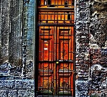 The Old Yellow Door Fine Art Print by stockfineart