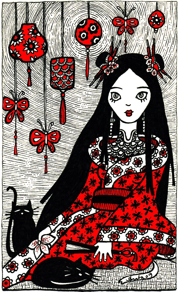 Lanterns and Kittens by Anita Inverarity