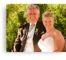 The bride and groom Canvas Print