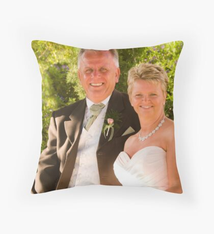 The bride and groom Throw Pillow