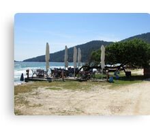 DINING BY THE SEA IN GREECE. 2 Canvas Print